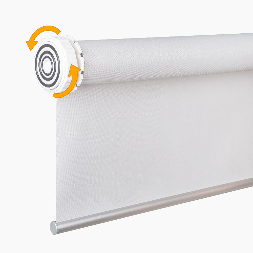 SCHRLING Daylight Fabric No Need Drill Tension Roller Blinds Very Easy Installation Inside Mount Roller Blinds