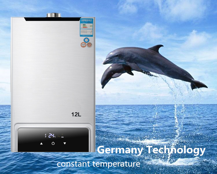 2018 Newest  constent strong emission Lgp Instant / stainless 12l  Lpg  Water Heater Propane Stainless 2800pa