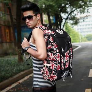 Image 5 - 落書きノートパソコンのバックパック男性キャンバススクールバッグ十代の少年大漫画手紙印刷バックパック旅行バッグ mochila XA1788C