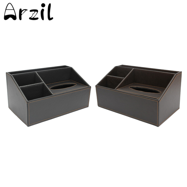 Office Home Faux Leather Multi-Functional Desk Stationery Organizer Storage Box Pen Pencil Paper Box  sc 1 st  AliExpress.com & Office Home Faux Leather Multi Functional Desk Stationery Organizer ...