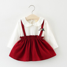 BibiCola 2018 baby girls dress infant cotton long sleeve princess tutu dress toddle kids fashion floral formal wedding dresses