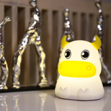 7 Colors Changed Cartoon Cute Cattle USB Charging Light Soft Table Lamp Home Decor for Kids Touch Control Night light