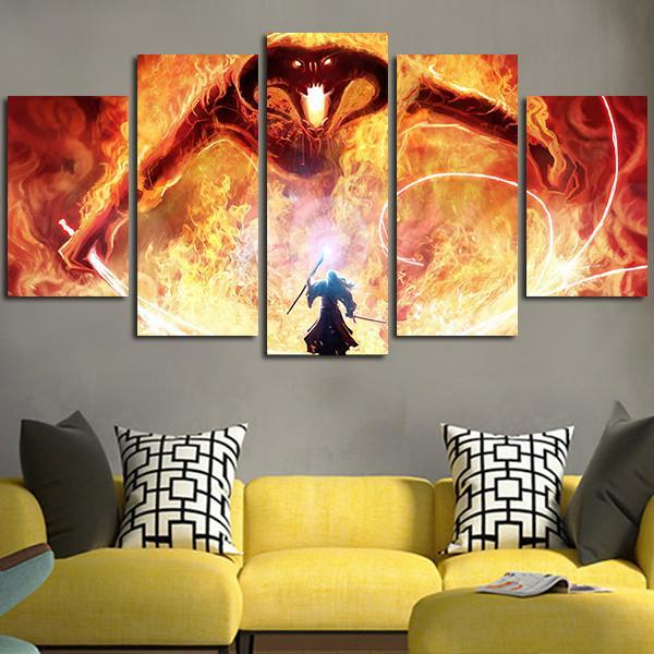 HTB1oB5ddlLN8KJjSZFPq6xoLXXaC & 5 piece canvas The Lord Of The Rings Balrog Canvas picture Animal ...