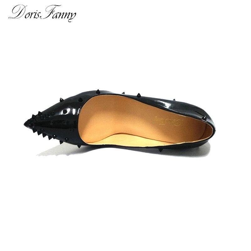 Bout En Talons Sexy Pompes Dorisfanny À 12 black 10cm Cuir Cm Brevet Hauts Clouté Noir De 12cm Chaussures 8cm Black Pointu Dames Mode black Femmes Rivers PIHxqH5v