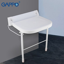 GAPPO Wall Mounted Shower Seats bathroom folding chair shower folding seat bath folding bench shower Stool toilet(China)