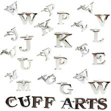 Cufflinks For Men  Letter A-Z Cufflinks Men Free Shipping English Alphabet  Men Shirt Charm Cufflinks Witg Gift Box By Cuffarts pair of chic police box shape cufflinks for men