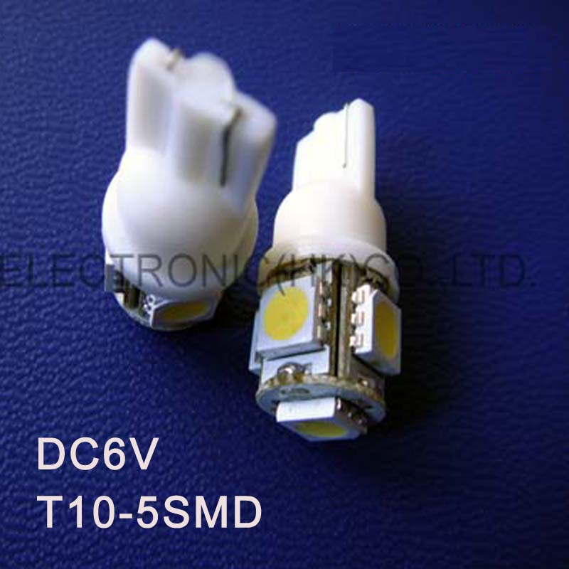 High quality DC6V 6.3V T10 W5W 194 168 Led Warning Signal,Pilot Lamps,Indicator Lights,Instrument Lamps free shipping 5pcs/lot