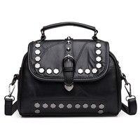 Women Bag Fashion Women Leather Rivet Handbags Female Ladies Shoulder Bags Famous Brands Women Messenger Bag