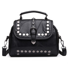 Frauen Tasche Mode Frauen Leder Niet Handtaschen Weibliche damen Umhängetaschen Berühmte Marken Frauen Umhängetasche Totes Tasche SE2014