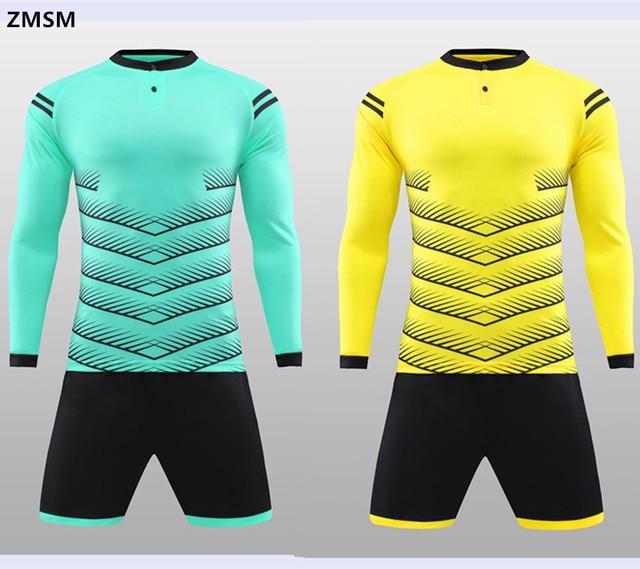 08f949dfb54 Zmsm manga larga Camisetas de Soccer kit Fútbol 2017 del fútbol uniformes  Pantalones cortos con bolsillo