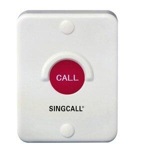 Image 2 - Sistema di chiamata Wireless SINGCALL, pulsante in silice rossa, impermeabile, resistente al sole, antipolvere, antiurto, cercapersone a un pulsante (APE510)
