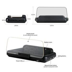 Image 5 - T900 HUD HeadUp Display Auto Tachimetro GPS Parabrezza Proiettore Con Bordo di Riflessione A Specchio OBD2 Gauge Strumento di Diagnostica
