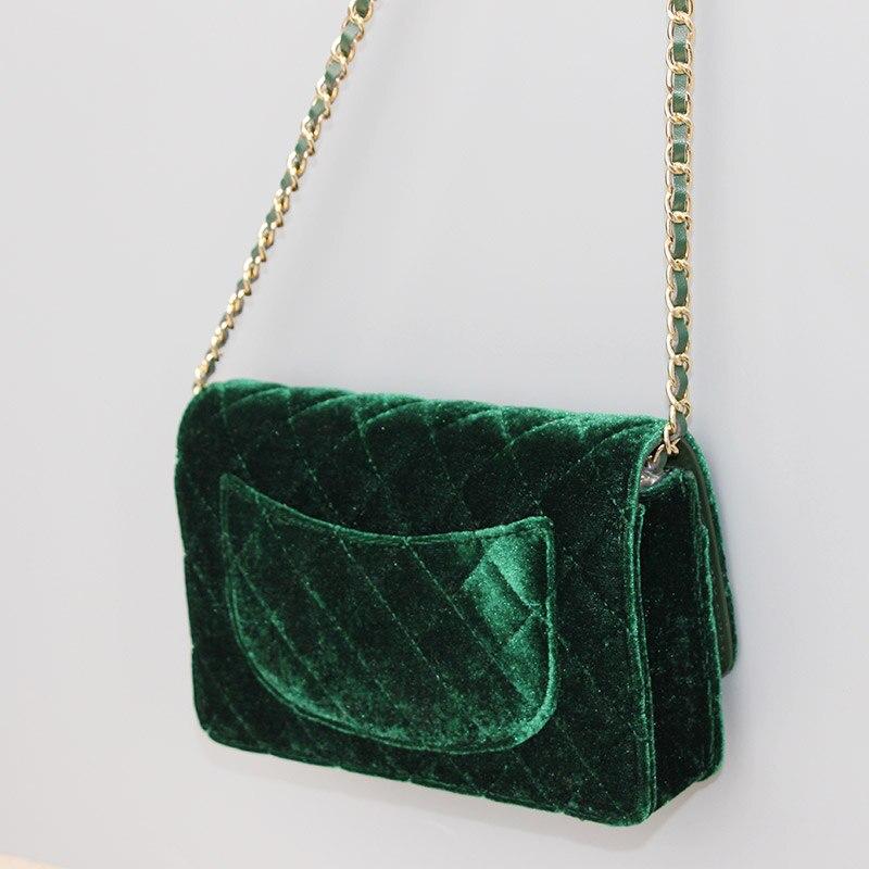 2017 Марка Mini размер вельвет Икра клапаном сумка для женщин плед сумочку старинные на ужин зеленый и коричневый плечо и сумки через плечо