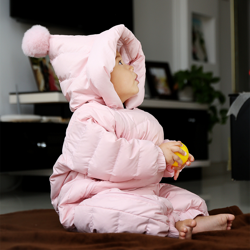 New Winter Baby Snowsuits Duck Down Jacket Baby Clothing Snow Wear Thicken Warm Toddler Boys Girls Outerwear Jumpsuits