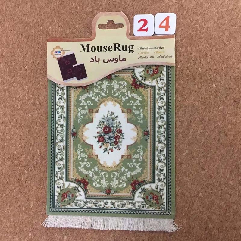 Mairuige Hot Sale High Quality Rubber Persian Carpet Game Mouse Pad 11 Beautiful Colors For Home Wall Tablet PC Gifts
