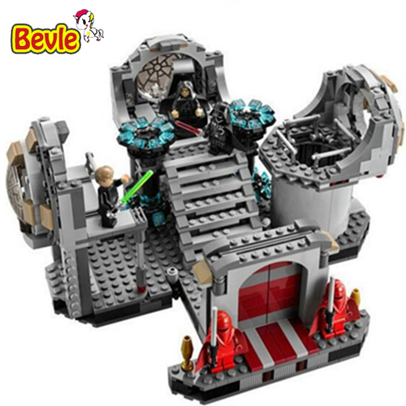 ФОТО Bevle Bela 10464 Star Wars Death Star Final Duel Bricks Building Block Toy Compatible with Lepin