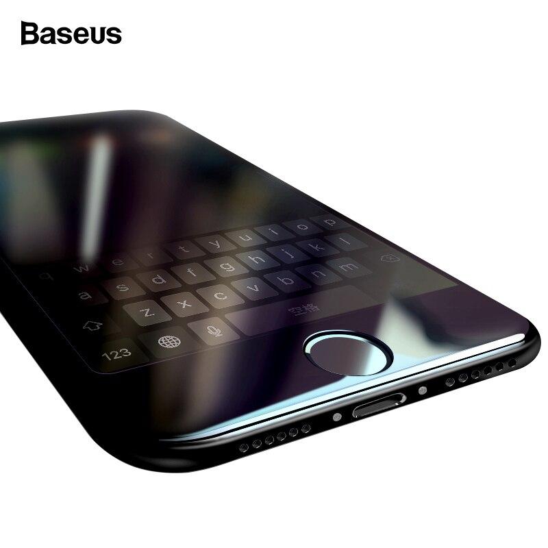 Baseus 7D de vidrio templado Protector de pantalla para iPhone 7 Plus de 0,3mm curvado de la cubierta completa borde protectora templado película de vidrio