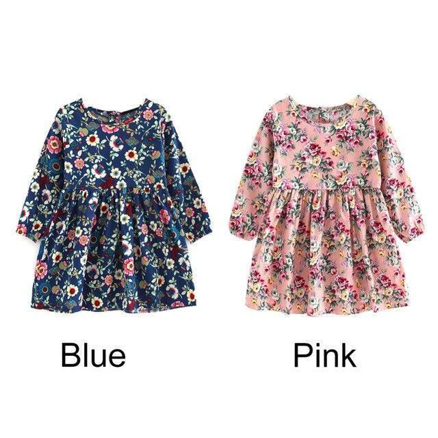 d5b0c3413 € 3.79 27% de DESCUENTO|Aliexpress.com: Comprar Baby Girl Clothes Pretty  Girls Dress Lovely Floral Print Long Sleeve Flower Kids Dress Princess ...