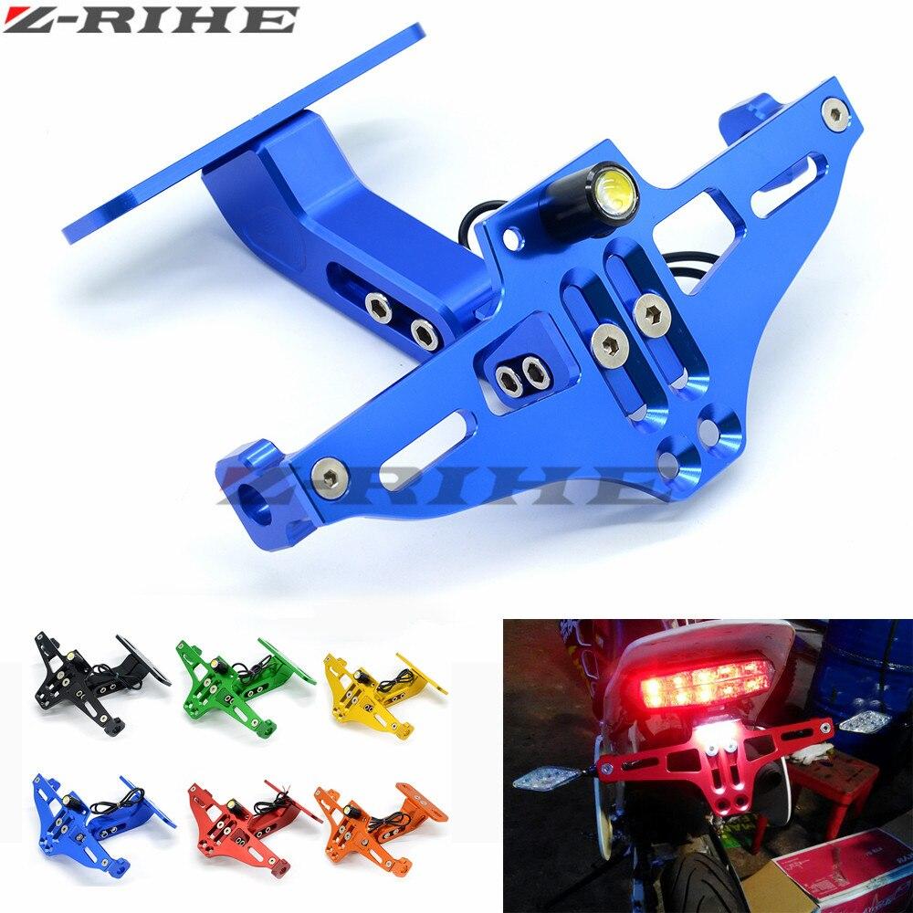 Plaque D'immatriculation de moto Support de fixation Pour Honda CB 599 919 400 CB600 HORNET CBR 600 F2 F3 F4 F4i 900RR 250 400 VTR 250 PCX125
