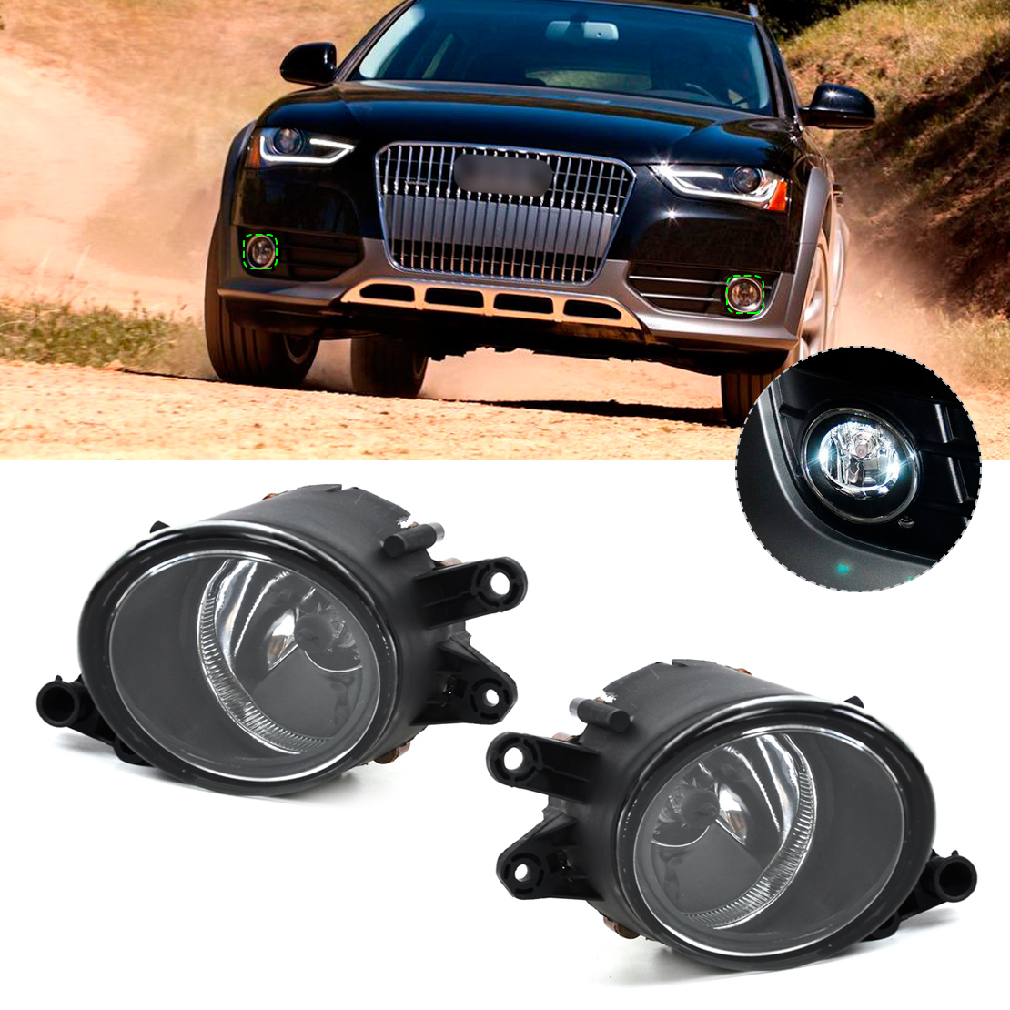 DWCX 8E0941700B 8E0941699B Left Right Fog Light font b Lamp b font for Audi A4 B6