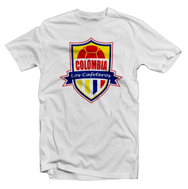 big sale ddca2 ce809 US $14.24 5% OFF|Colombia Los Cafeteros Hero Tee: James Rodriguez  Footballer Legend Soccer Cotton for Men Short Sleeve Tops Hip Hop Clothes  Shirt-in ...