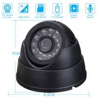 CCTV Dome Camera with 16G TF Card IR Night Vision CCTV DVR Loop Recorder Security Camera USB