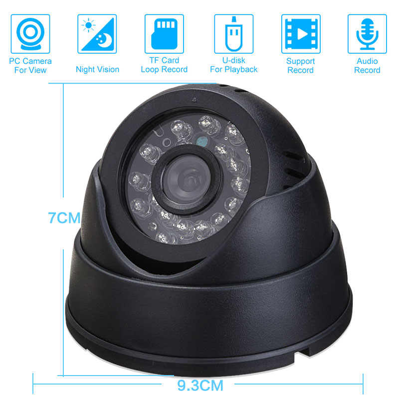 CCTV  Dome Camera with 16G TF Card  IR Night Vision CCTV DVR Loop Recorder Security Camera USB CCTV  Dome Camera with 16G TF Card  IR Night Vision CCTV DVR Loop Recorder Security Camera USB