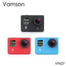 Vamson Gopro aksesuarları için silikon 3 renkler jel kauçuk koruyucu kılıf toz geçirmez cilt kapak GoPro Hero 4 3 + 3 kamera VP627