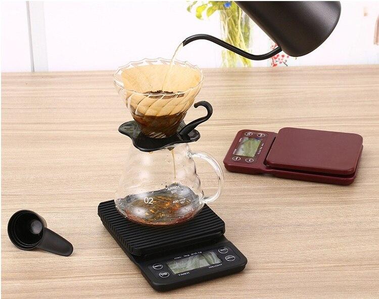 FeiC 1 pièce Style Hario Café Goutte À Goutte Échelle/Minuterie Numérique Balance de Cuisine 3000g/0.1g de Cuisson cuisson pour barista