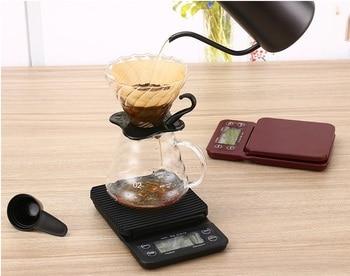Feic 1 peça estilo hario café gotejamento escala/temporizador digital cozinha escala 3000g/0.1g cozimento para barista