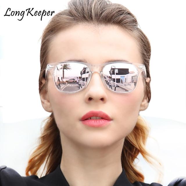 11e1d423a0f Long Keeper Women Brand Designer Polarized Sunglasses Men Night Vision Lens  Transparent Frame Eyewear Male Sun Glasses UV400