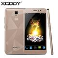 XGODY D10 5.5 дюймов Смартфон Android 5.1 MTK6580 Quad Core 512 МБ ОПЕРАТИВНОЙ ПАМЯТИ 8 ГБ ROM 5MP Dual SIM Мобильный Сотовый Телефон Бесплатно 16 ГБ TF Карты