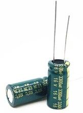 5 10 ชิ้น/ล็อต 16 V 3300 uF ความถี่สูงต่ำ ความต้านทานความถี่สูงความต้านทานอลูมิเนียม Electrolytic 3300 uF 16 V 20%