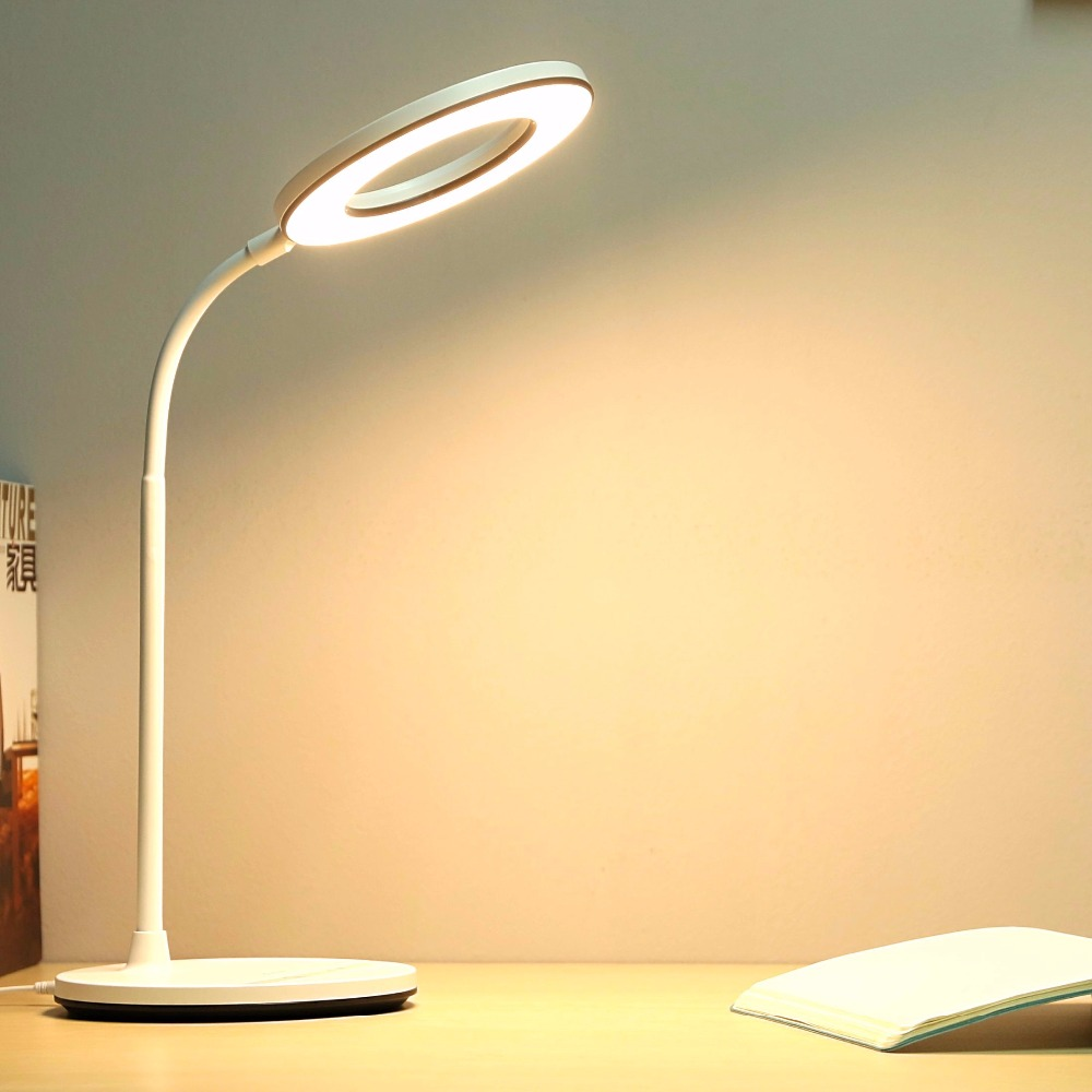 Lampe Bureau Us 27 98 49 Off Yage Luminaria Table Lamp Led Desk Lamp Desktop Modern Office Usb Touch Wireless Lampe Flexo Bureau Study Rechargeab Table Light In