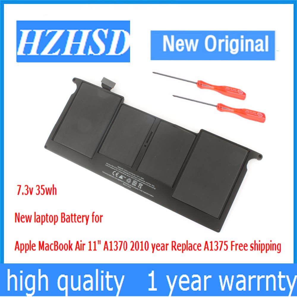 7.3v 35wh New Original a1375 laptop Battery for Apple MacBook Air 11