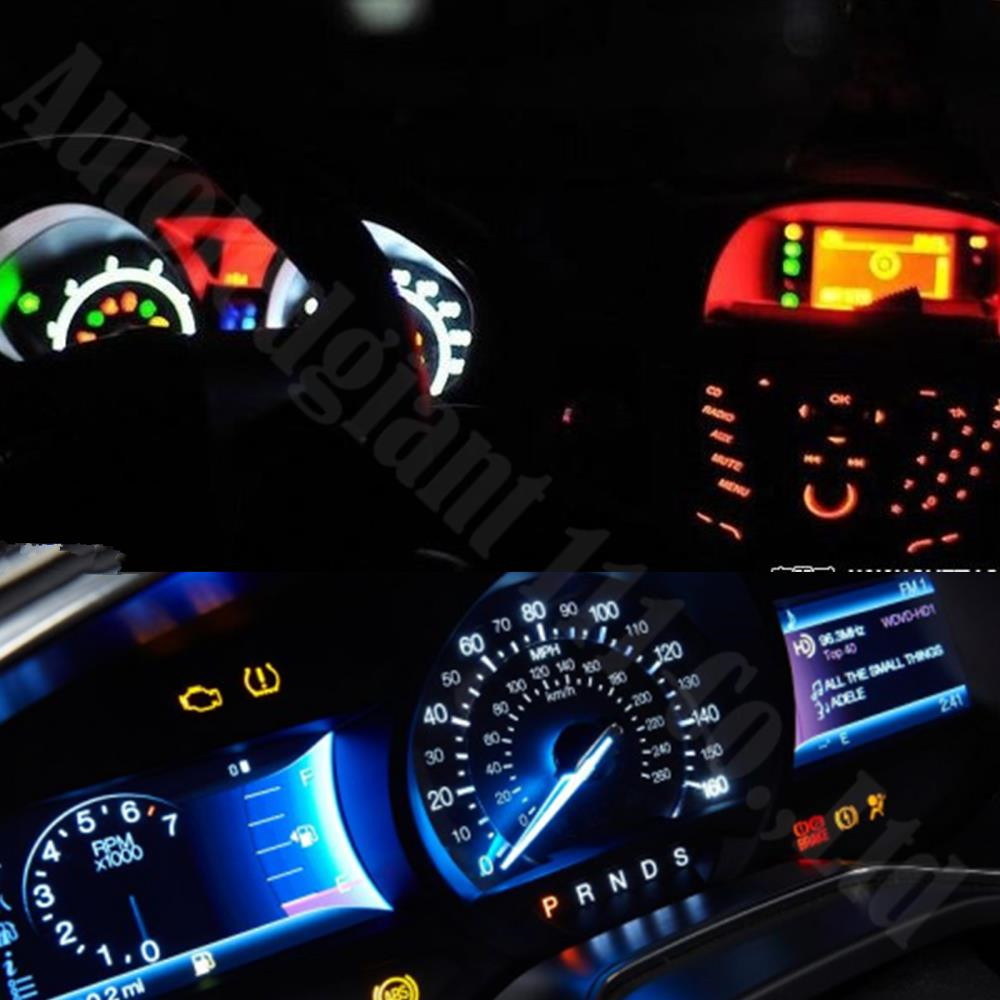 WLJH 25x 7Colors Bright Car Dashboard Lights Wedge T5 Led 74 286 5050 SMD  12V Gauge Instrument Panel Light Dash Lamp For DODGE In Signal Lamp From ...
