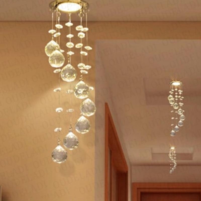 Modern Suspension Hanging Crystal LED 3W Ceiling Lights Decorative Aisle Walk Indoor Living Room Home Illumination Lamps