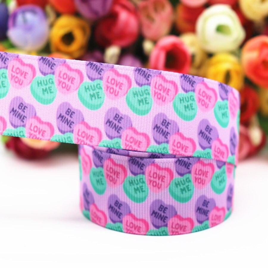 "Grosgrain Pink Flower Vine Cartoon Ribbon 1/"" 25mm"