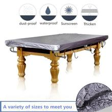 HobbyLane Entertainment Silver Gray PVC Dust-proof Billiard Tablecloth for 7 Foot 8 Foot 9 Foot 10 Foot 12 Foot Pool Tables foot