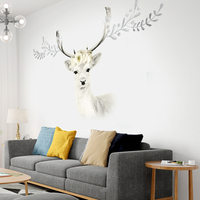 Elk Wallpaper Self adhesive Bedroom Room Warm Sticker Background Wall Decoration Living Room Poster Paper Wall Sticker