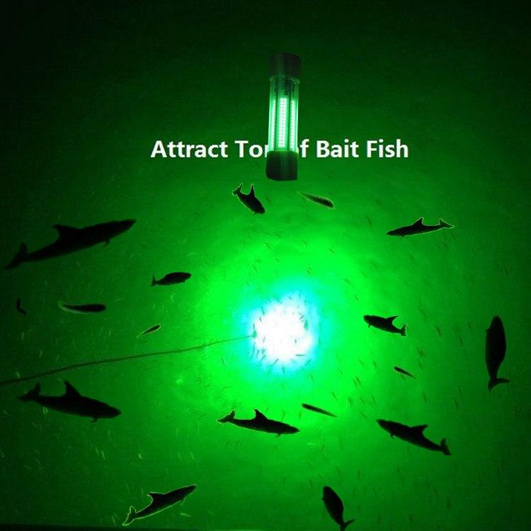 Dimmable 5 M Câbles Blanc Vert Bleu DC 12 V ou 24 V 350 W led sous-marine Plongée lumières Nuit lampes de pêche
