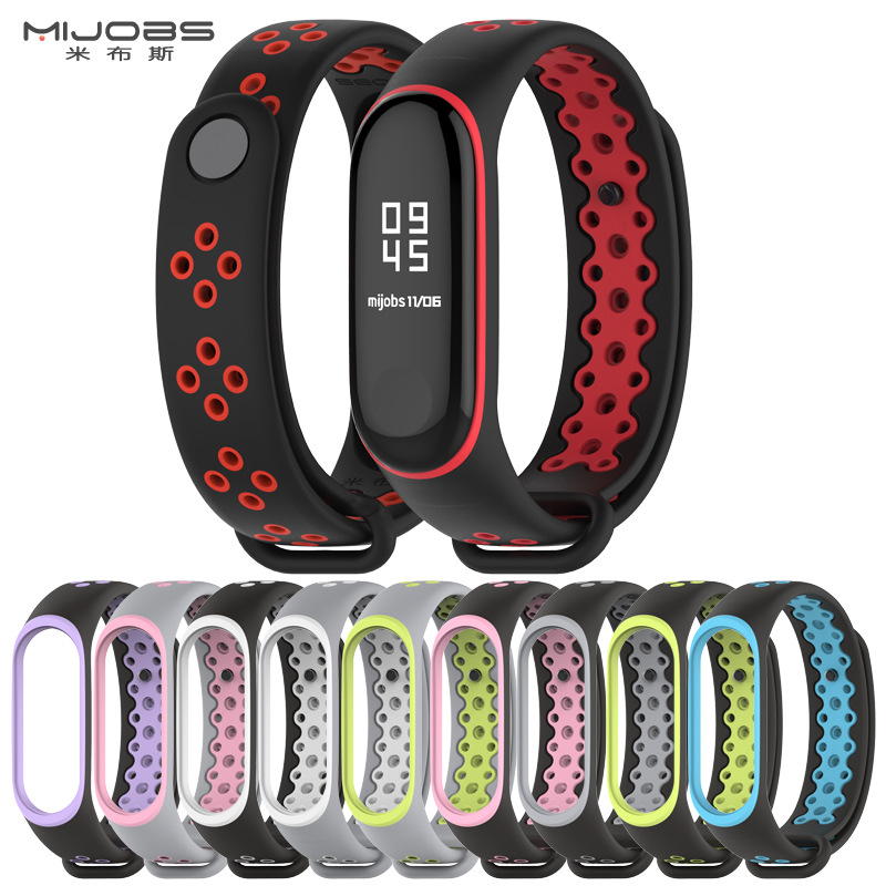 Mi Band 3 4 Strap Bracelet wrist strap watch Mi band3 4 accessories smart bracelet sport Silicone Strap for Xiaomi mi band 3 4(China)