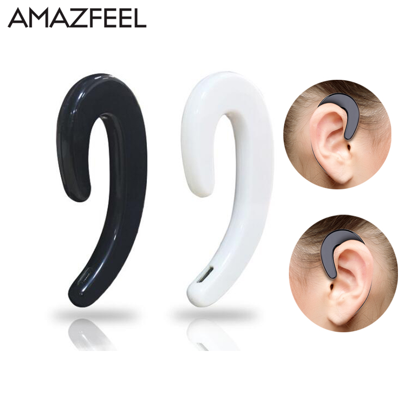 AMAZFEEL NOT in-ear Earphone Stereo Wireless Bluetooth Earphone Ear-hook Headset Headphones HD call Wireless Earphone with Mic