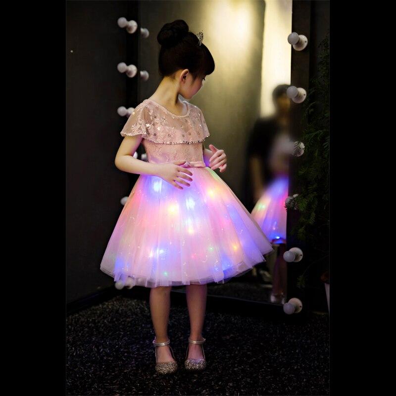 Luxury Flower Girl Dresses for Wedding Beading Kids Formal Dress Birthday Party Dress Ball Gown Lighting Princess Dress B437Luxury Flower Girl Dresses for Wedding Beading Kids Formal Dress Birthday Party Dress Ball Gown Lighting Princess Dress B437