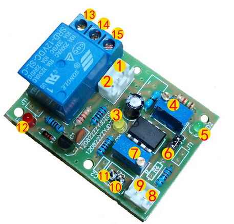 Free Shipping!!!  1pcs LM393 LM339 Dual Threshold Voltage Window Comparator Voltage Comparator Module With 12V Relay Module