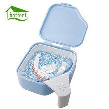 Baffect High Quality Storage Box Denture Bath Box Case Dental False Teeth Storage  Box With Handle