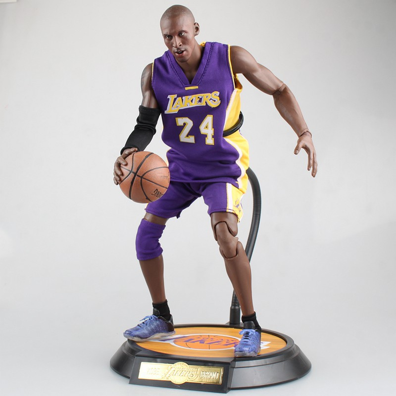 NBA Kobe Bryant Los Angeles Lakers 24 Action Figure Toy PVC 1:6 Collection Model Dolls Christmas Present Toys for Boys trevor ariza autographed signed 8x10 photo lakers nba finals free throw coa