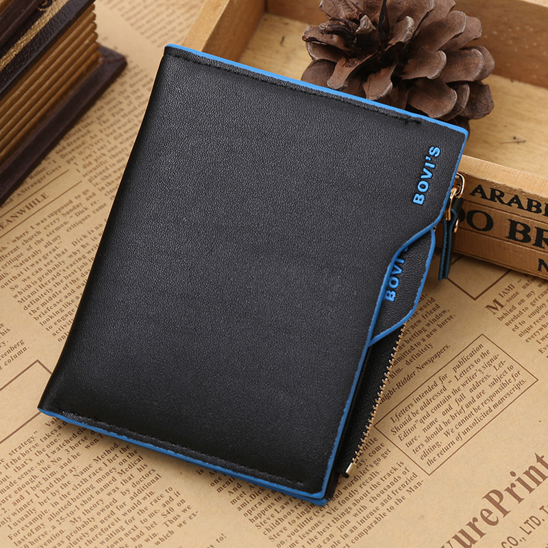 Top Men Wallet Short Design Male Purse Card Holder Brand PU Leather Wallets Zipper Pocket Slim Purse Bifold Carteira masculina male leather casual short design wallet card holder pocket