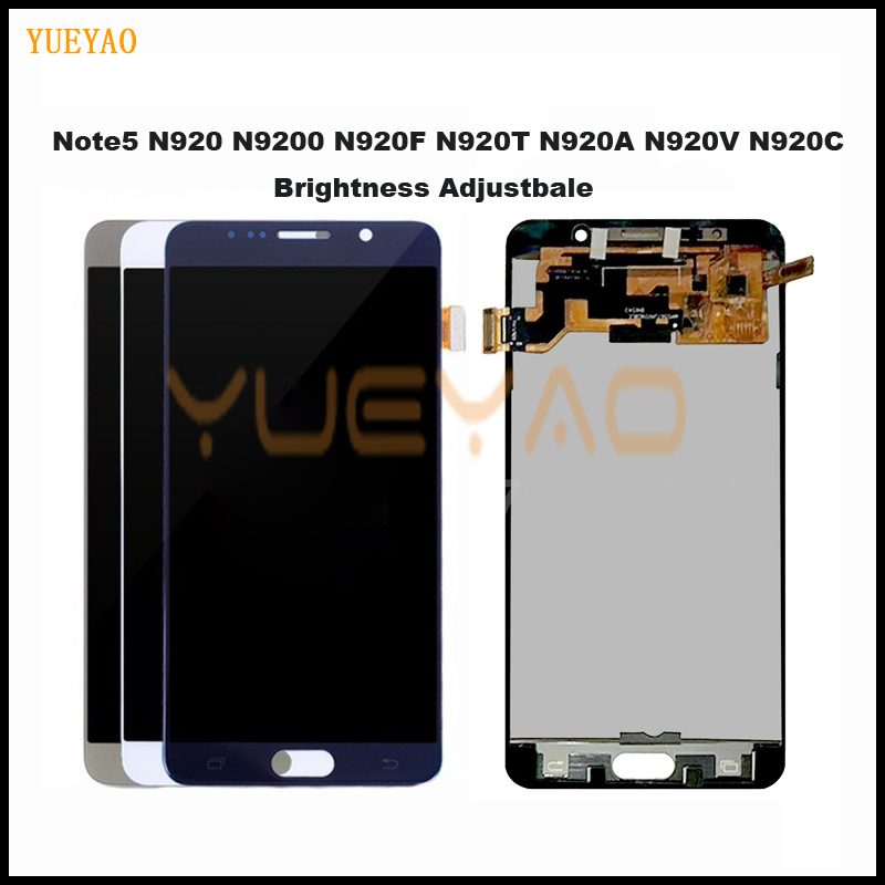 Note5 LCD display screen for SAMSUNG Note 5 Note5 N920A N9200 SM-N920 N920C Display LCD Touch Screen Replacement Spare Parts