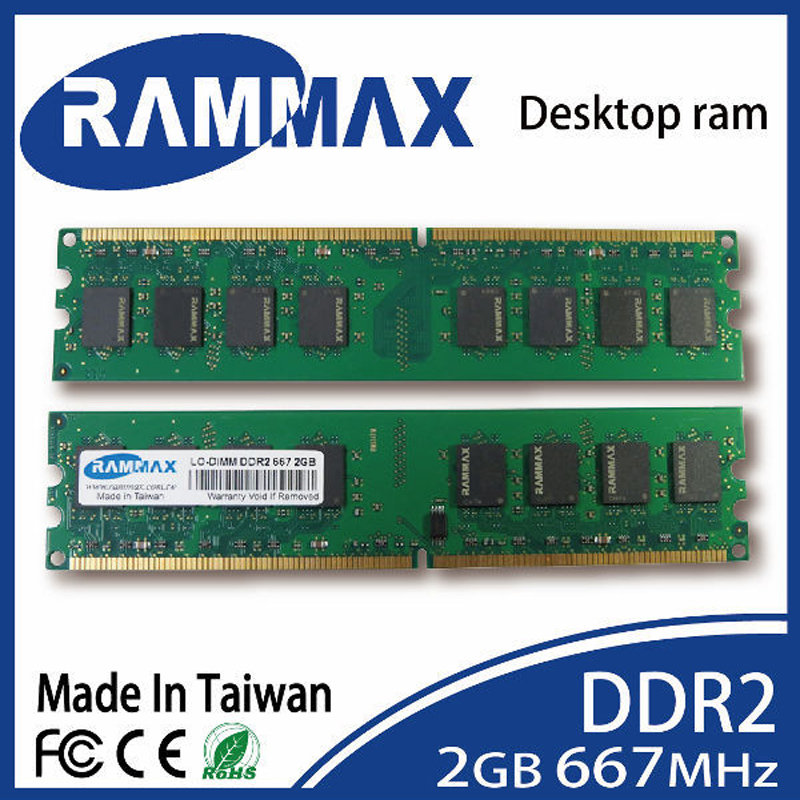 New sealed LO-DIMM 667Mhz Desktop Memory Ram 2GB DDR2 PC2-5300 240-pin/CL5/1.8v compatibility with all PC Computer motherboards
